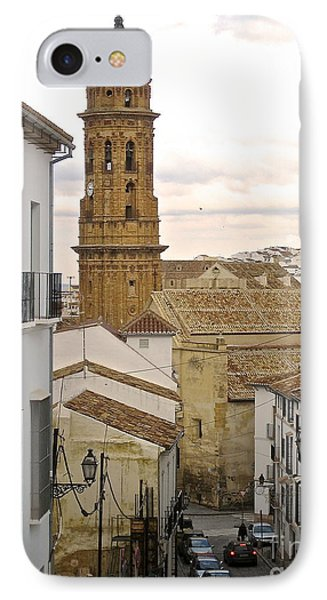 IPhone Case featuring the photograph The Town Tower by Suzanne Oesterling