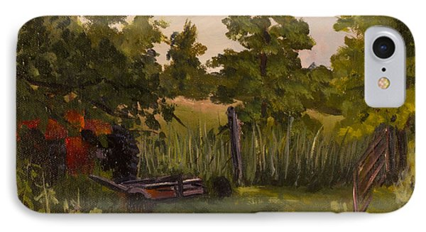 The Tractor By The Gate Phone Case by Janet Felts