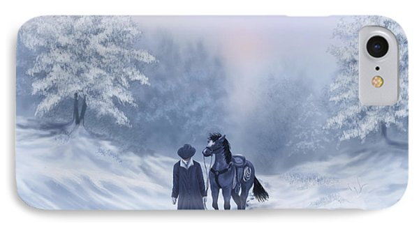 IPhone Case featuring the painting The Trail Home by Sena Wilson