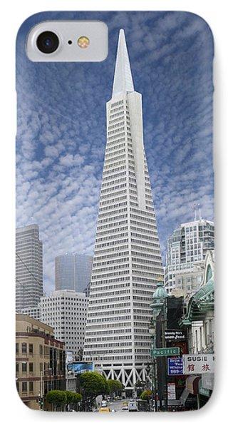 The Transamerica Pyramid - San Francisco Phone Case by Mike McGlothlen