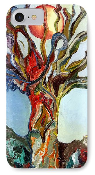 IPhone Case featuring the painting The Tree by Daniel Janda