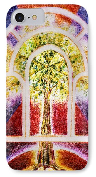 IPhone Case featuring the painting The  Tree  Of Life by Hartmut Jager