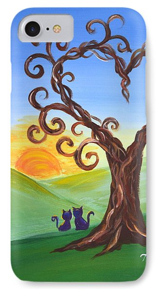 IPhone Case featuring the painting The Tree Of Love by Agata Lindquist