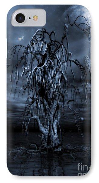 The Tree Of Sawols Cyanotype IPhone Case by John Edwards