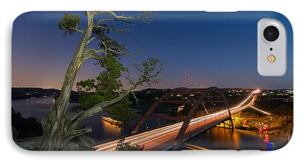 The Tree Over The Pennybacker Bridge IPhone Case by Tim Stanley