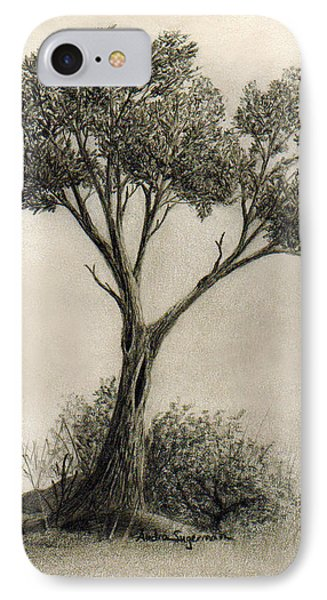 The Tree Quietly Stood Alone Phone Case by Audra D Lemke