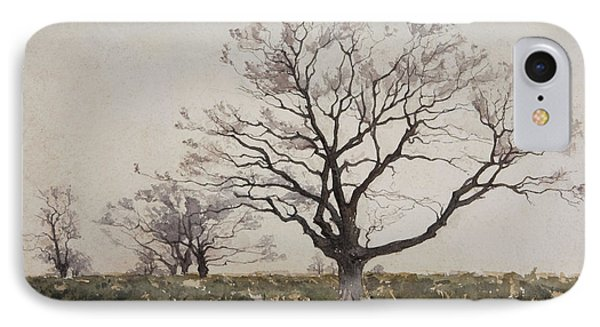 The Tree  IPhone Case by Henri Duhem