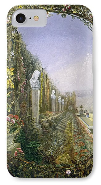 The Trellis Window Trengtham Hall Gardens IPhone Case by E Adveno Brooke