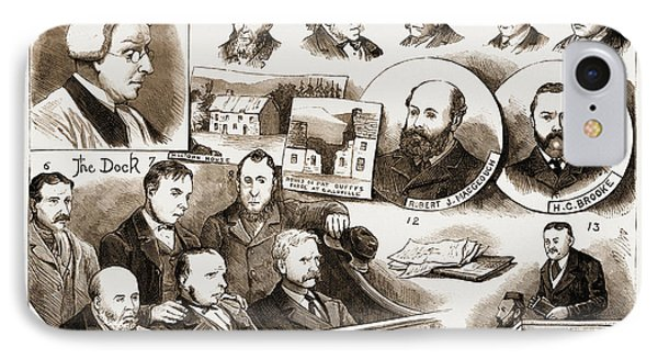 The Trial At Belfast Of Members Of The Irish Patriotic IPhone Case by Litz Collection