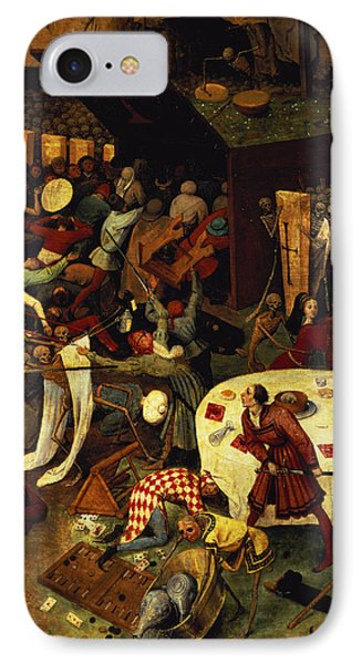 The Triumph Of Death, Detail Of The Lower Right Section, 1562  IPhone Case by Pieter the Elder Bruegel