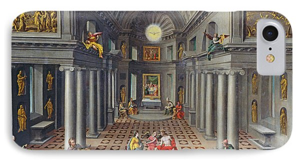 The Triumph Of The Church Or An Allegory Of Christianity Oil On Canvas IPhone Case by Hans or Jan Vredeman de Vries