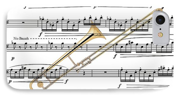 The Trombone IPhone Case by Ron Davidson