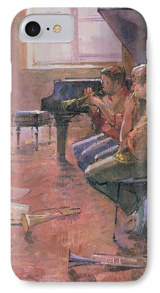 The Trumpet Lesson, 1998 Oil On Canvas IPhone Case