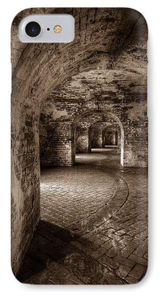 The Tunnels Of Fort Pike IPhone Case by Tim Stanley