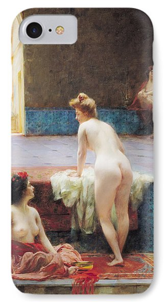 The Turkish Bath, 1896 Oil On Canvas IPhone Case by Serkis Diranian
