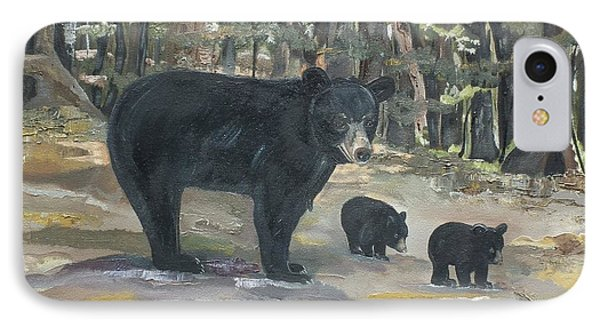 IPhone Case featuring the painting Cubs - Bears - Goldilocks And The Three Bears by Jan Dappen