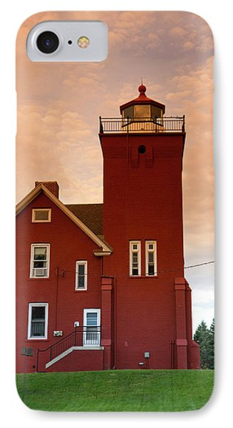 The Two Harbors Lighthouse Overlooking IPhone Case by David R. Frazier