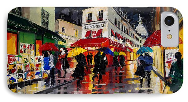 The Umbrellas Of Montmartre IPhone Case by Mona Edulesco