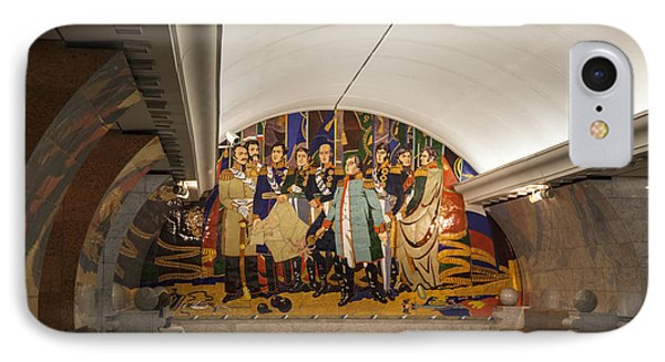 The Underground 2 - Victory Park Metro - Moscow Phone Case by Madeline Ellis