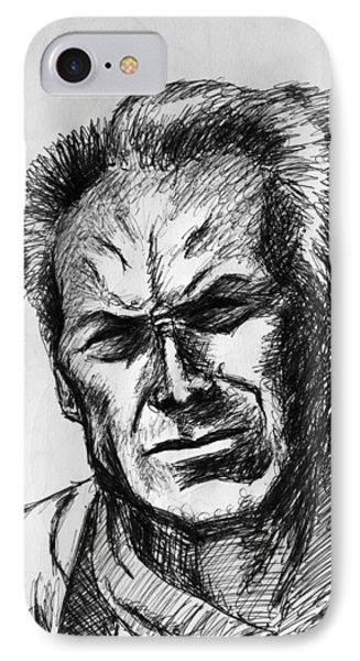 Clint Eastwood IPhone Case by Salman Ravish