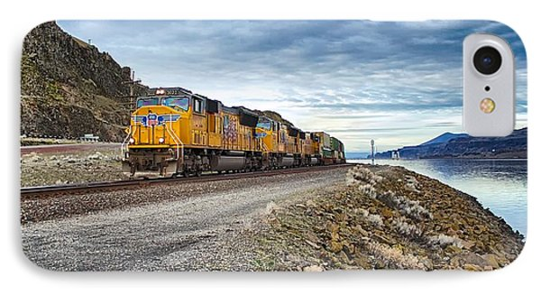 IPhone Case featuring the photograph The Union Pacific Railroad Columbia River Gorge Oregon by Michael Rogers