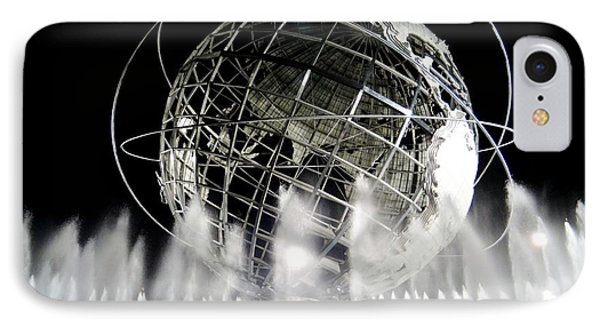 The Unisphere's 50th Anniversary IPhone Case by Ed Weidman