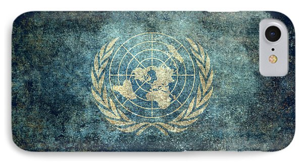 The United Nations Flag  Vintage Version IPhone Case