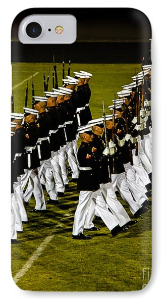 The United States Marine Corps Silent Drill Platoon Phone Case by Robert Bales