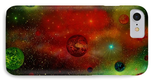 IPhone Case featuring the painting The Universe by Michael Rucker