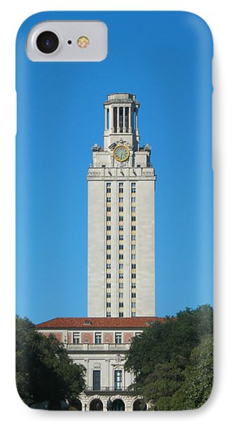 IPhone Case featuring the photograph The University Of Texas Tower by Connie Fox