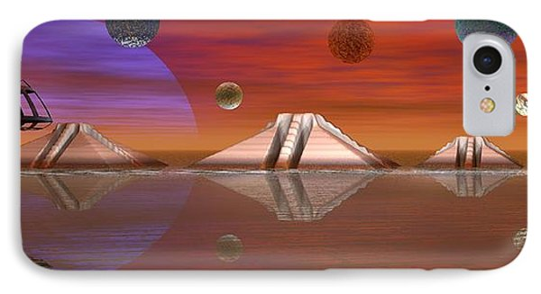 IPhone Case featuring the digital art The Unknown by Jacqueline Lloyd