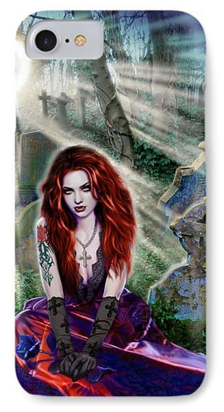 The Vampiress IPhone Case by Andrew Farley