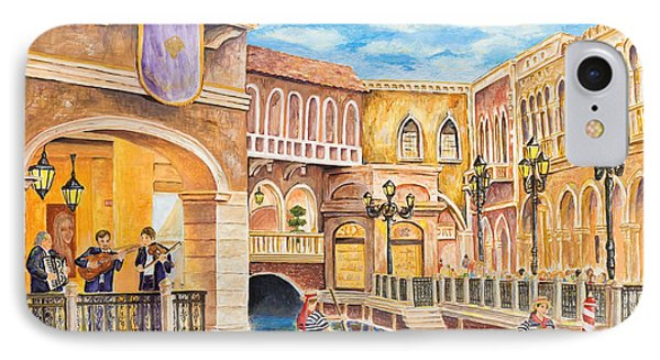IPhone Case featuring the painting The Venetian Canal  by Vicki  Housel