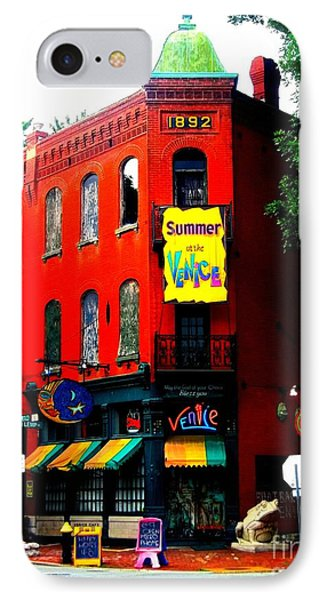The Venice Cafe' Edited IPhone Case by Kelly Awad