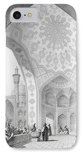 The Vestibule Of The Main Entrance Of The Medrese I Shah-hussein IPhone Case by Pascal Xavier Coste