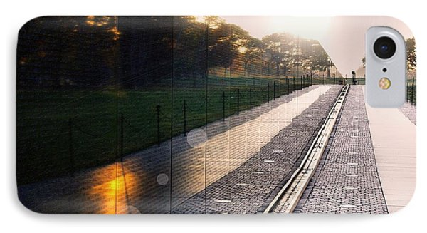 IPhone Case featuring the photograph The Vietnam Wall Memorial  by John S