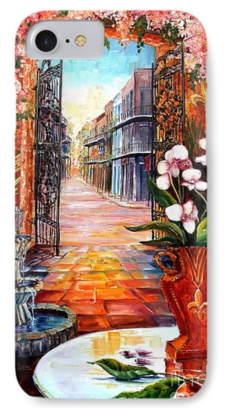 The View From A Courtyard Phone Case by Diane Millsap