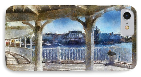 The View From The Boardwalk Gazebo Wdw 02 Photo Art IPhone Case by Thomas Woolworth