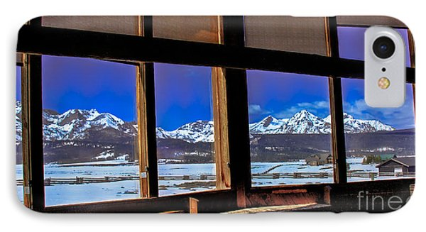 The View From The Sawtooth Valley Meditation Chapel Phone Case by Robert Bales