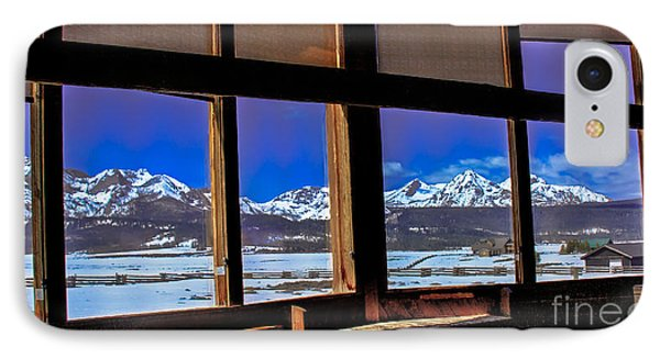 The View From The Sawtooth Valley Meditation Chapel IPhone Case by Robert Bales