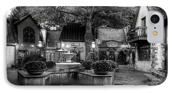 The Village Of Gatlinburg In Black And White IPhone Case by Greg and Chrystal Mimbs
