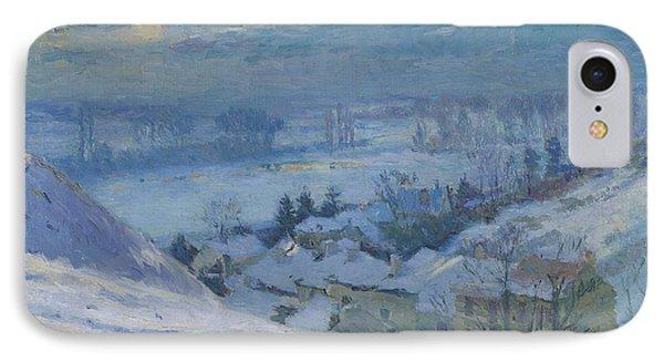 The Village Of Herblay Under Snow IPhone Case