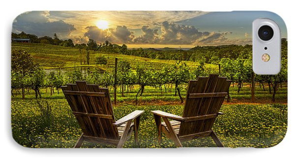 The Vineyard   IPhone Case by Debra and Dave Vanderlaan