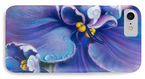 IPhone Case featuring the painting The Violet by Anna Ewa Miarczynska