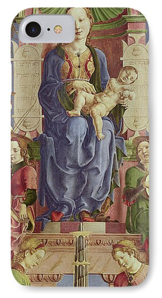 The Virgin And Child Enthroned IPhone Case by Cosimo Tura