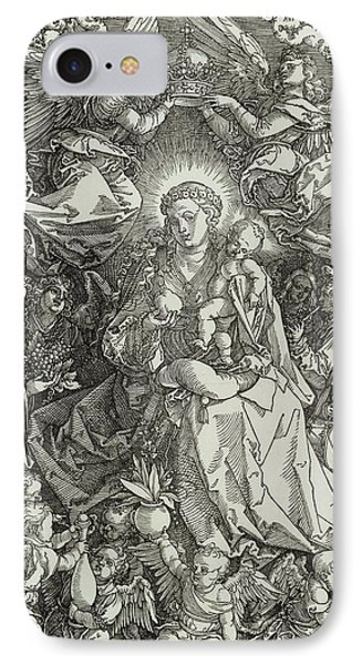 The Virgin And Child Surrounded By Angels Phone Case by Albrecht Durer or Duerer
