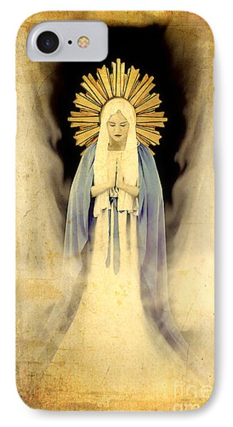 The Virgin Mary Gratia Plena IPhone Case by Cinema Photography