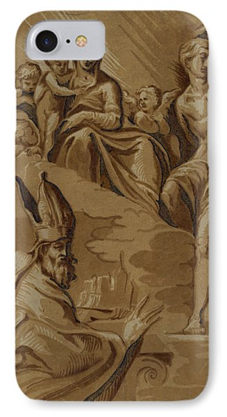 The Virgin, St. Sebastian And A Holy Bishop, Date Created IPhone Case