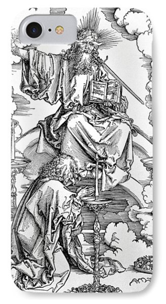 The Vision Of The Seven Candlesticks From The Apocalypse Or The Revelations Of St. John The Divine IPhone Case by Albrecht Durer or Duerer