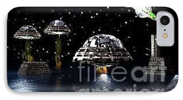 IPhone Case featuring the digital art The Visit by Jacqueline Lloyd